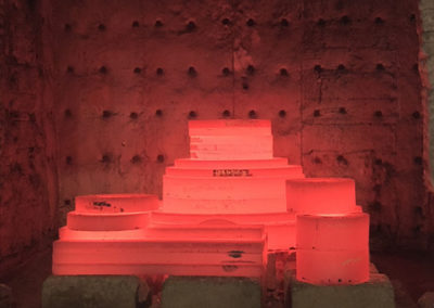 Hot steel just cut at steel plate supplier in Pennsylvania