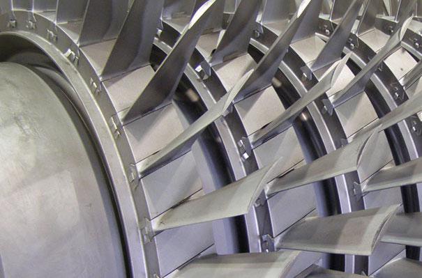 close up of pressure vessel quality steel on turbine